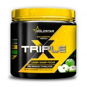 Triple X, Pre-Workout, By GoldStar Performance Products, Green Apple, 50 Servings