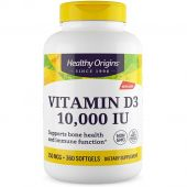 Healthy Origins Vitamin D3, 10,000 IU, 360 Softgels