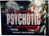 Psychotic Pre Workout By Insane Labz, Fruit Punch, Sample Packet