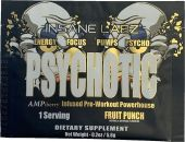 Psychotic Gold Pre Workout By Insane Labz, Fruit Punch, Sample Packet