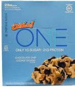 Oh Yeah! ONE Bars, By Oh Yeah! Nutrition, Chocolate Chip Cookie Dough, 12/Box