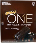 Oh Yeah! ONE Bars, By Oh Yeah! Nutrition, Chocolate Brownie, 12/Box