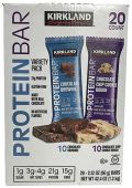 Kirkland Protein Bars, Variety Pack, 20 Count