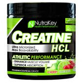 NutraKey Creatine HCL, Cherry Limeade, 125 Servings