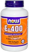 NOW Vitamin E-400 IU D-Alpha Tocopheryl Acetate - 250 Gels