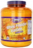 NOW Sports, Whey Protein Isolate, Natural, Unflavored 5lb