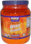 NOW Sports, Whey Protein, Natural Unflavored, Organic, 1lb