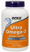 Ultra Omega-3 By NOW Foods, 180 Softgels