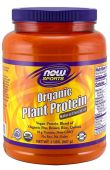 Organic Plant Protein By NOW, Natural Unflavored, 2LB