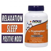 NOW, L-Tryptophan, 500 mg, 120 Vcaps
