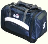 Schiek's Sports Deluxe Polyester Sports Bag Navy with Stripes Model SSB20