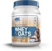 Whey and Oats, Optimum Nutrition, Chocolate Glazed Donut, 14 Servings
