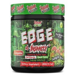 Edge of Insanity Pre Workout By Psycho Pharma, Jungle Juice, 25 Servings