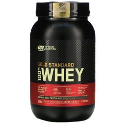 Optimum Nutrition 100% Whey Gold Standard, Double Rich Chocolate, 2lb