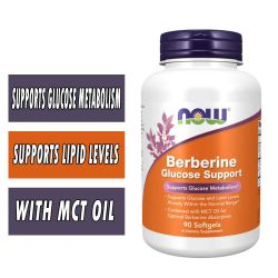NOW Berberine Glucose Support - 90 Softgels