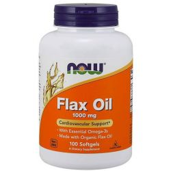 NOW Flax Oil - 1000 mg - 100 Softgels