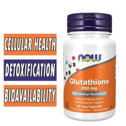 NOW Sports, Glutathione, 250 mg, 60 Vcaps