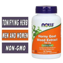 NOW Horny Goat Weed Extract - 750mg - 90 Tabs