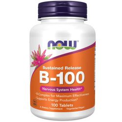 NOW Vitamin B-100 - Sustained Release - 100 Tablets