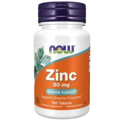 Zinc, By NOW Foods, 50 mg, 100 Tabs