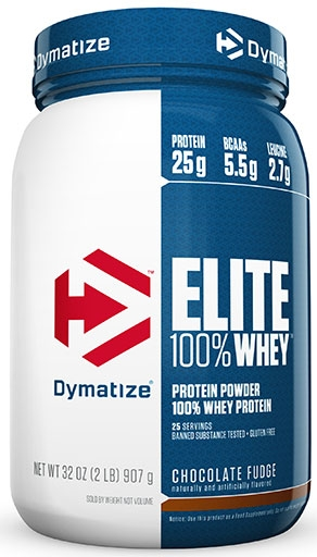 Dymatize Elite Whey Protein, Chocolate Fudge 2 lbs