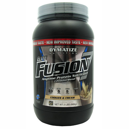 Elite Fusion-7 By Dymatize Nutrition, Cookies & Cream, 2lb