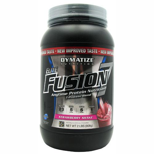 Elite Fusion-7 By Dymatize Nutrition, Strawberry Shake, 2lb