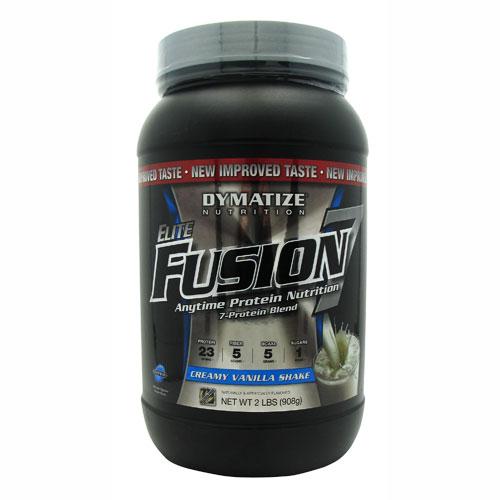 Elite Fusion-7 By Dymatize Nutrition, Creamy Vanilla Shake, 2lb