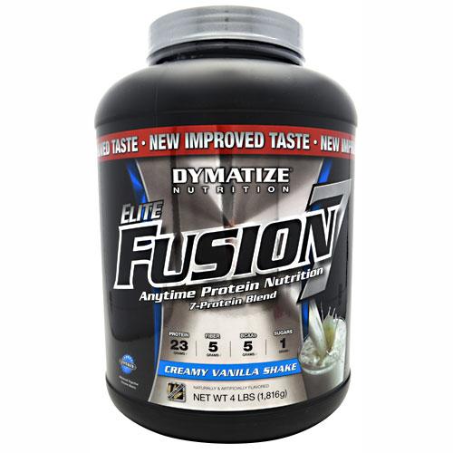 Elite Fusion-7 By Dymatize Nutrition, Creamy Vanilla Shake, 4lb