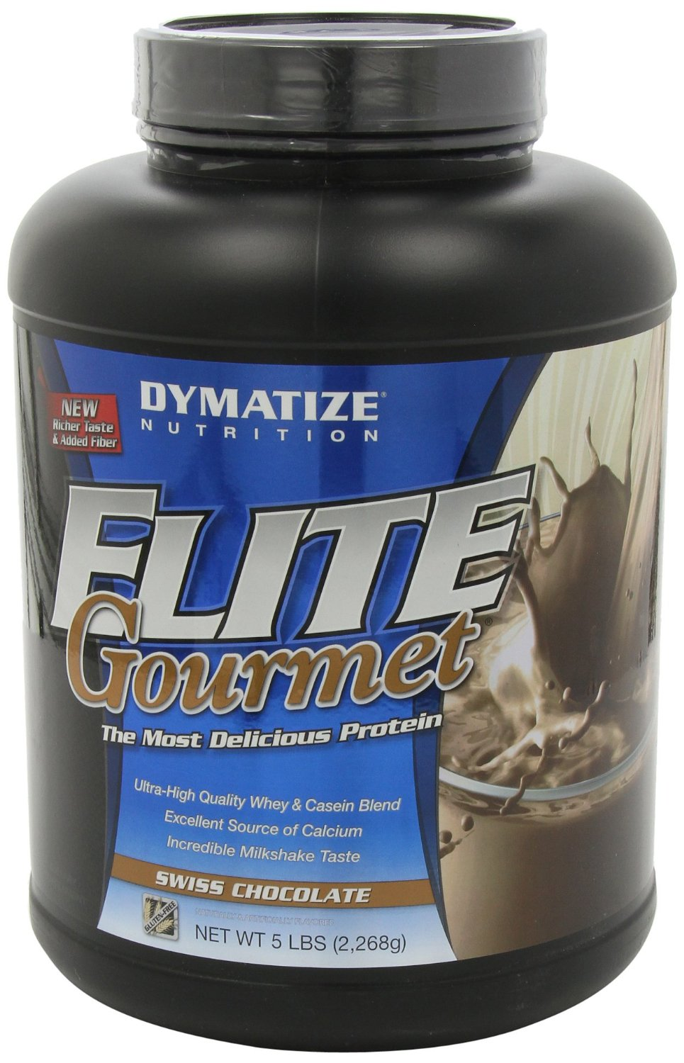 Elite Gourmet Protein By Dymatize Nutrition, Swiss Chocolate, 5lb