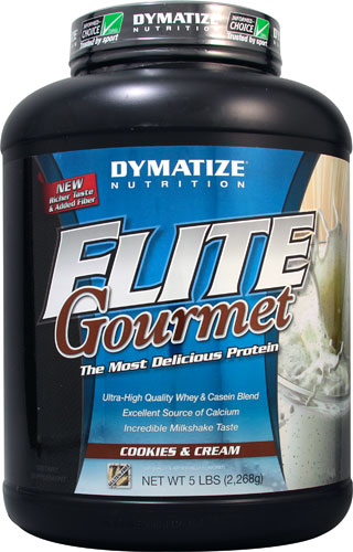 Elite Gourmet Protein By Dymatize Nutrition, Cookie & Cream, 5lb
