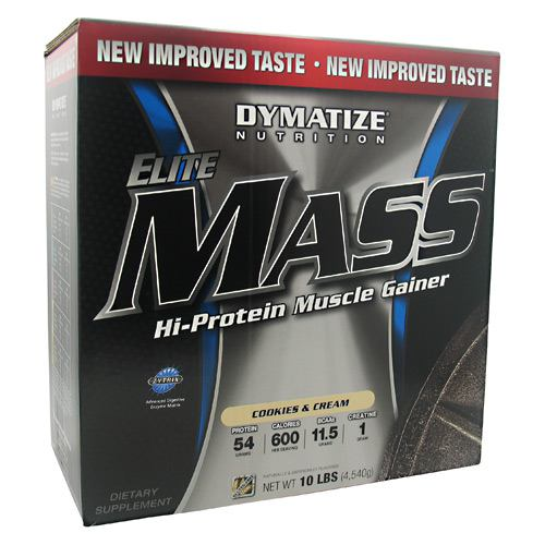 Elite Mass By Dymatize Nutrition, Cookies and Cream 10lb