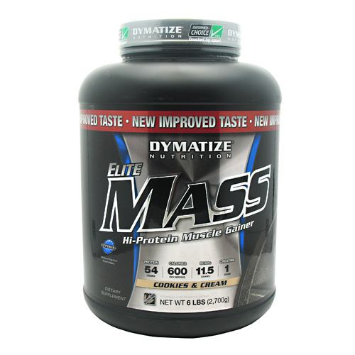 Elite Mass By Dymatize Nutrition, Cookies and Cream 6lb