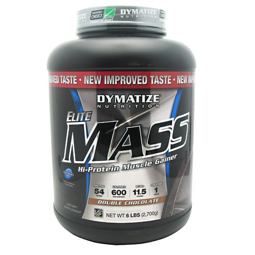 Elite Mass By Dymatize Nutrition, Double Chocolate 6lb