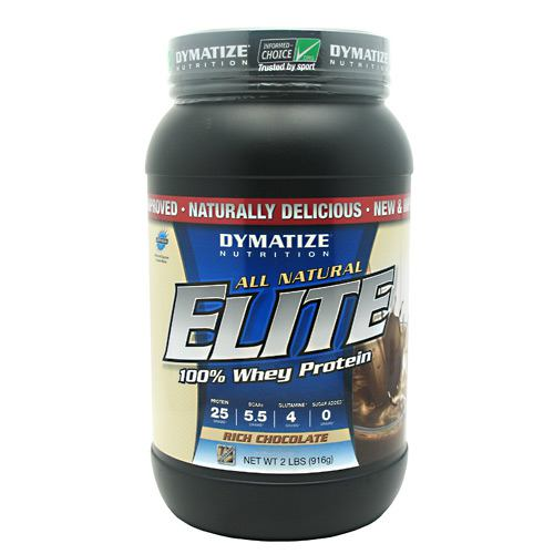 Dymatize Natural Elite Whey Protein, Rich Chocolate 2lb