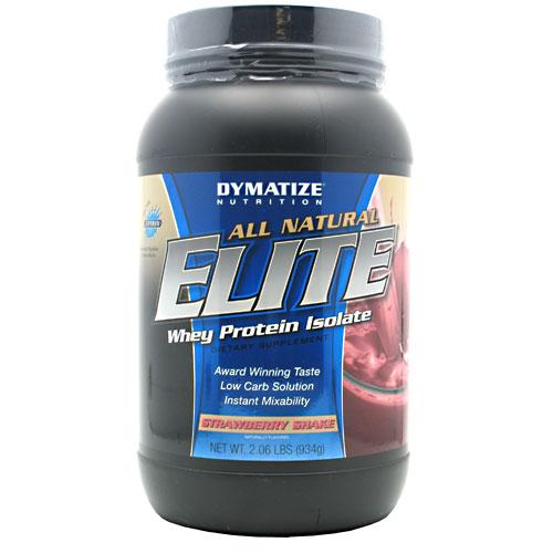 Dymatize Natural Elite Whey Protein, Strawberry Shake 2lb