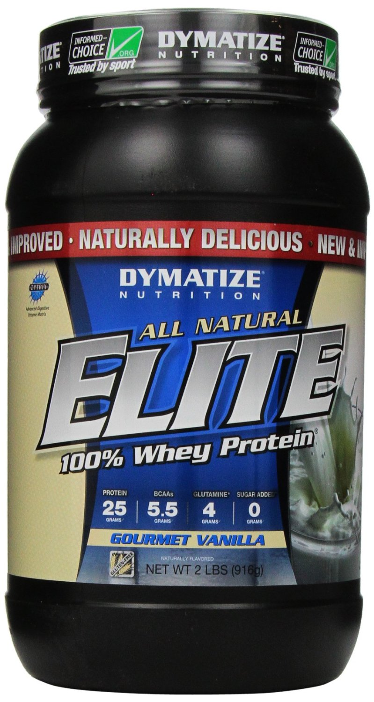 Dymatize Natural Elite Whey Protein, Gourmet Vanilla 2lb