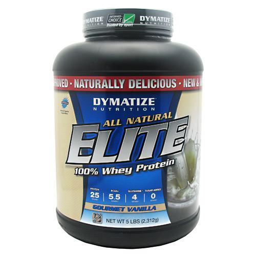 Dymatize Natural Elite Whey Protein, Gourmet Vanilla 5lb
