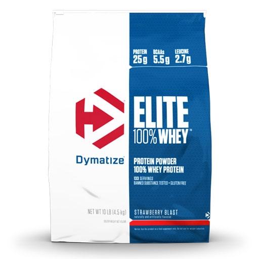 Dymatize Elite Whey Protein, Strawberry Blast 10 lbs