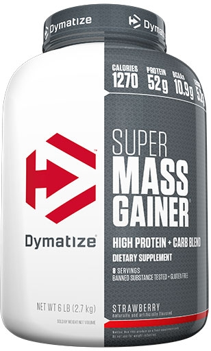 Super Mass Gainer By Dymatize Nutrition, Strawberry 6lb