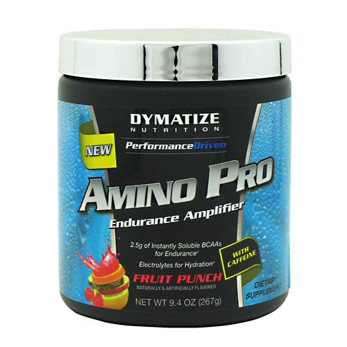 Amino Pro By Dymatize Nutrition, With Caffeine, Fruit Punch, 30 Servings