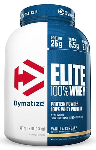 Dymatize Elite Whey Protein, Vanilla Cupcake, 5lb