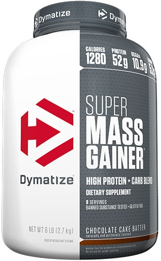 Super Mass Gainer By Dymatize Nutrition, Chocolate Cake Batter, 6lb