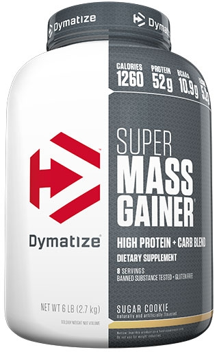 Super Mass Gainer By Dymatize Nutrition, Sugar Cookie, 6lb