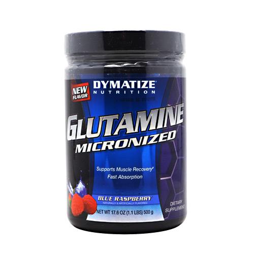 Glutamine Powder By Dymatize Nutrition, Blue Raspberry, 500 Grams