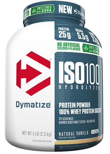 Dymatize ISO 100, Natural Vanilla, 5lb