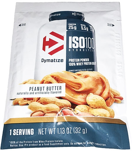 Dymatize ISO 100, Peanut Butter, Single Packet