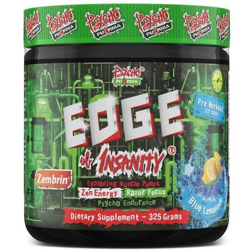Edge of Insanity Pre Workout - Blue Lemonade W/ Zembrin