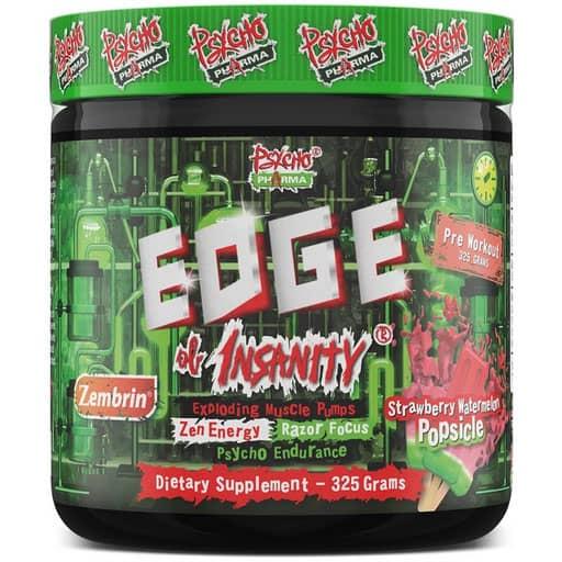 Edge of Insanity Pre Workout - Strawberry Watermelon W/ Zembrin
