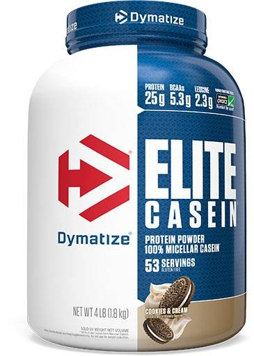 Elite Casein Protein By Dymatize Nutrition, Cookies and Cream 4lb